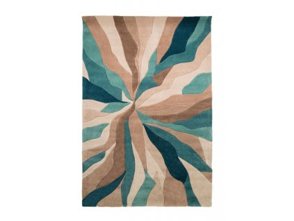 Flair Rugs koberce AKCE: 120x170 cm Ručně všívaný kusový koberec Infinite Splinter Teal - 120x170 cm