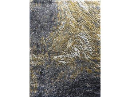 Berfin Dywany AKCE: 140x190 cm Kusový koberec Zara 9660 Yellow Grey - 140x190 cm