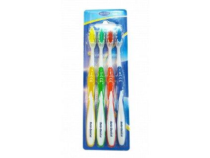 Rebi Dental zubní kartáčky středně tvrdé 4 ks