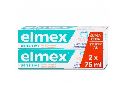 Elmex Sensitive Zubní pasta s aminfluoridem 2 x 75 ml