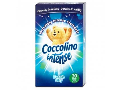 Coccolino ubrousky do sušičky Intense Fresh Sky 20 ks