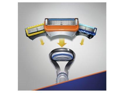 Gillette Dárková Sada Fusion5 Holicí strojek + Sensitive gel na holení 2 ks