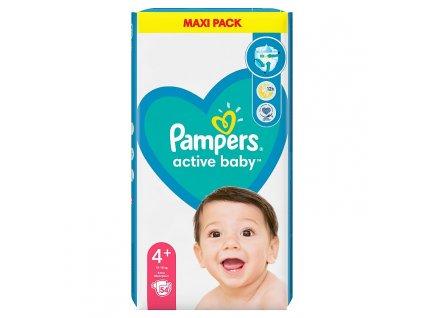 Pampers Active Baby Value Pack dětské jednorázové pleny Velikost 4+ (10-15 kg) 54 ks