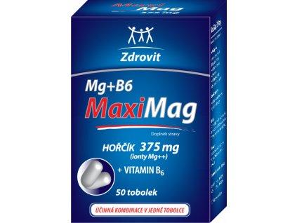 Zdrovit MaxiMag Hořčík 375 mgB6 tobolky 50 tob