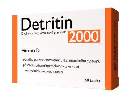 Detritin 2000 IU vitaminu D 60 tbl