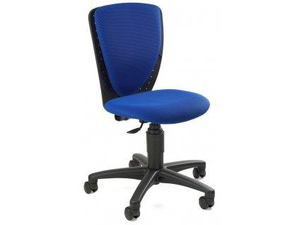 modrá židle