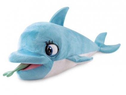 blu blu delfin plysovy 54cm na baterie se zvukem a doplnky 18m v krabicce (1)