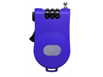 Zámek LIFEFIT MULTI 100x1,6mm, modrý