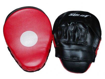 Box lapa prohnutá SULOV PVC, pár, černo-červená