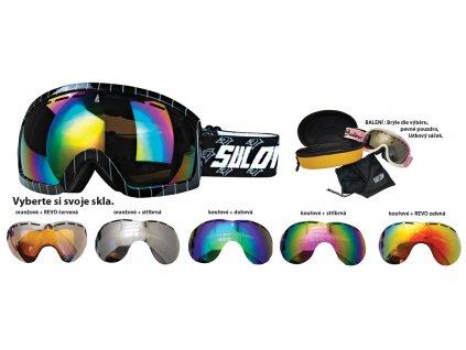 Brýle sjezdové SULOV HORNET, dvojsklo, černé