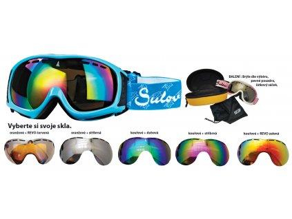Brýle sjezdové SULOV SIERRA, dvojsklo, modré