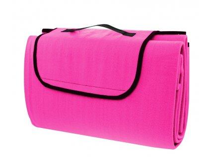 Pikniková deka CALTER STADY, 170x150 cm, růžová