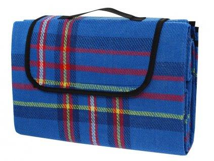 Pikniková deka CALTER RELAX, 170x150 cm, modrá kostka