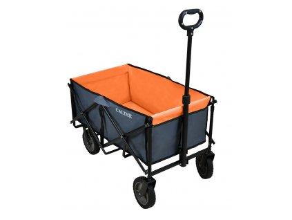 Přepravní skládací vozík CALTER, oranžový