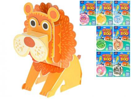 Puzzle 3D pěnové divoká zvířata 8druhů 24ks v DBX