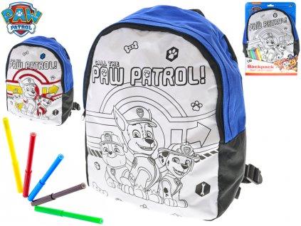 Batoh vybarvovací Paw Patrol 32cm + fixa 5ks v krabičce