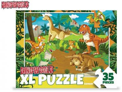 Puzzle dinosauři 62x46cm 35dílků v krabičce