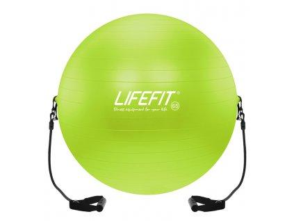 Gymnastický míč s expanderem LIFEFIT GYMBALL EXPAND 65 cm