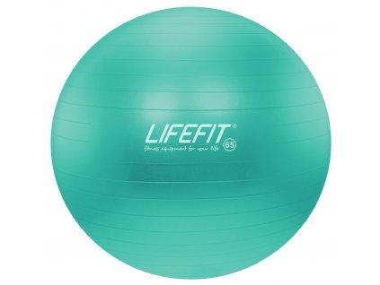 Gymnastický míč LIFEFIT ANTI-BURST 65 cm, tyrkysový
