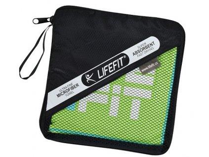 LIFEFIT rychleschnoucí ručník z mikrovlákna 70x140cm, zelený