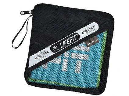 LIFEFIT rychleschnoucí ručník z mikrovlákna 70x140cm, světle modrý