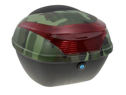 Zadní kufr k elektroskútru RACCEWAY E-BABETA, maskáč zelený