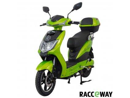 Elektroskútr RACCEWAY E-FICHTL, sv.zelený-metalický s baterií 12Ah