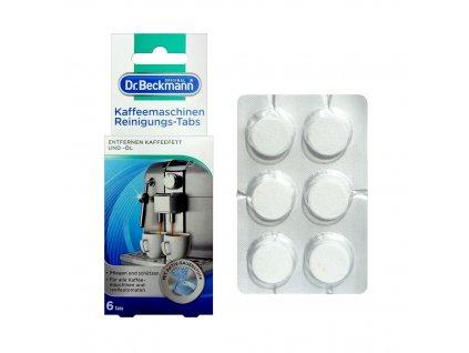 Dr. Beckmann (Německo) Dr. BECKMANN Speciální čistící a pečující tablety do kávovaru 6ks