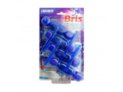 BRIS FRESH POWER Tuhý WC blok barvicí 4ks Bris WC blok: Levandule (Lavender) fialový