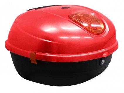 Zadní kufr k elektroskútru RACCEWAY CENTURY, červený-lesklý