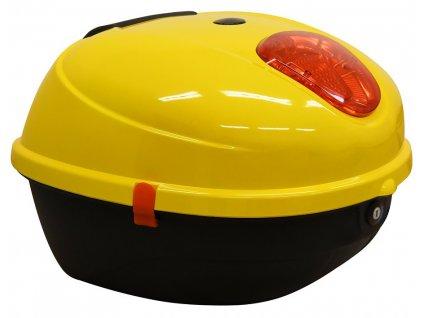 Zadní kufr k elektroskútru RACCEWAY CENTURY, žlutý-lesklý
