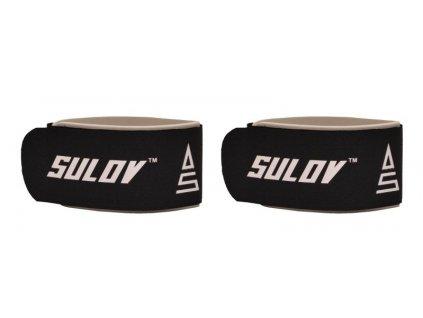 Pásek na sjezdové lyže SULOV, pár, černo-bílý