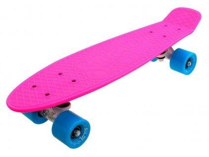 """Penny board 22"""" SULOV NEON SPEEDWAY růžovo-modro-bílý"""