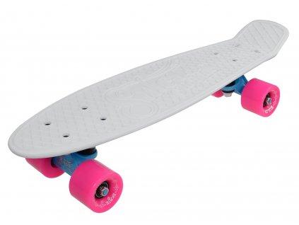 """Penny board 22"""" SULOV NEON SPEEDWAY bílo-růžový"""