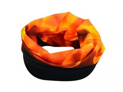 Sportovní šátek s flísem, plamen