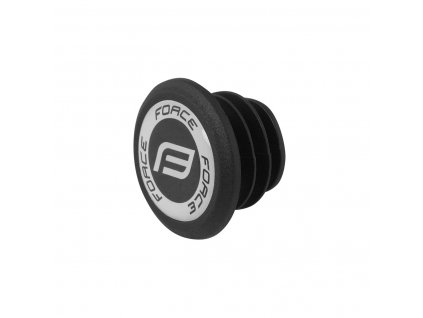 FORCE - koncovka-zátka do řidítek s PVC logem