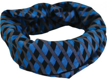 Sportovní šátek SULOV, černo-modrý