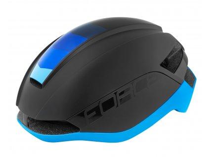 FORCE - přilba ORCA, černá mat-modrá
