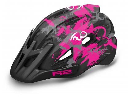 R2 - helma WHEELIE černá/růžová/bílá
