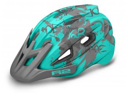 R2 - helma WHEELIE modrá mint/šedá
