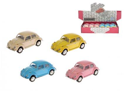 VW Classical Beetle 1967 1:64 6,5cm kov zpětný chod 4barvy 12ks v DBX