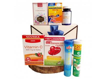 Vitamínový balíček v dárkové obálce s Koenzymem Q10