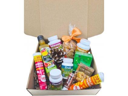 Vitamínový balíček Zdravý koš se zázvorem v dárkové krabici