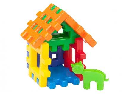 Stavební kostky domeček pro mazlíčky 12m+ ve fólii
