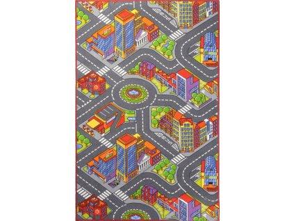 Associated Weavers koberce Dětský kusový koberec silnice Big City - 100x165 cm