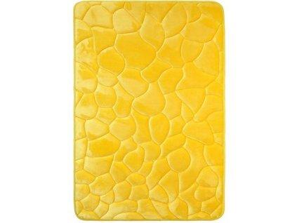 BO-MA koberce Protiskluzová koupelnová předložka 3D 0133 yellow - 50x80 cm