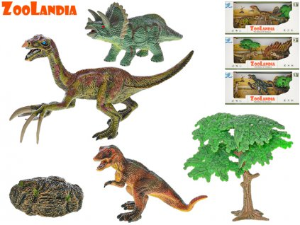 Zoolandia dinosaurus 4druhy 3ks v krabičce
