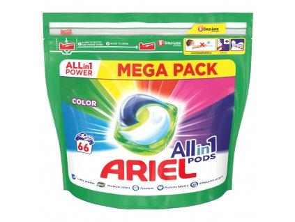 Ariel All-In-1 PODs Colour, kapsle na praní 66 ks