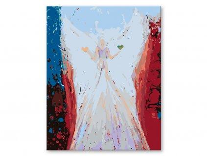 zuty Malování podle čísel - ANDĚLÉ OD LENKY -BALANCE ANGEL Rozměr: 40x50 cm, Rámování: vypnuté plátno na rám