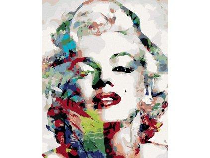 zuty Malování podle čísel - MARILYN MONROE Rozměr: 40x50 cm, Rámování: vypnuté plátno na rám